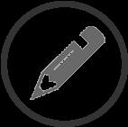 Picto crayon gris